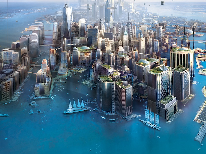 New York in 2140? Image from Kim Stanley Robinson book
